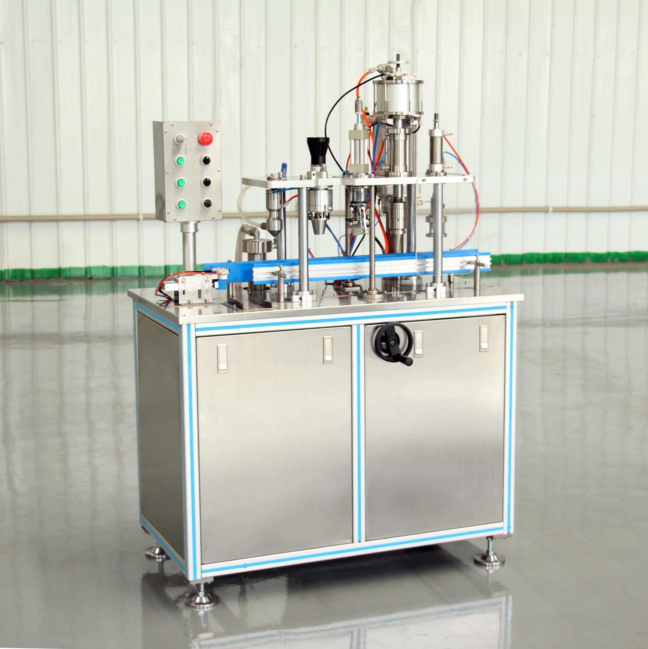 aerosol filling machine for deodorant