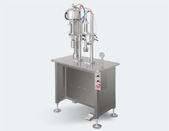 aerosol crimping and gas filling machine