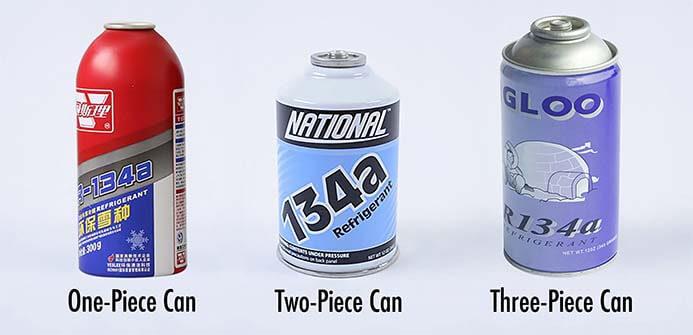 aerosol can for refrigerant