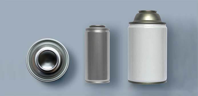 three-piece aerosol can