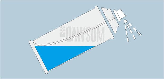 tilted aerosol can